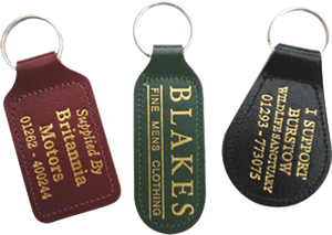 Bonded leather fob with foil print