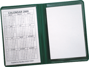 PVC note book with calendar
